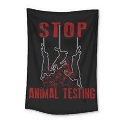 Stop Animal Testing   Rabbits  Small Tapestry