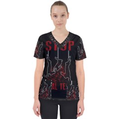 Stop Animal Testing   Rabbits  Scrub Top