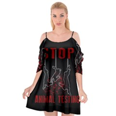 Stop Animal Testing   Rabbits  Cutout Spaghetti Strap Chiffon Dress
