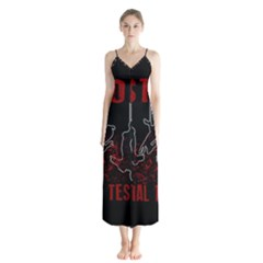 Stop Animal Testing   Rabbits  Button Up Chiffon Maxi Dress