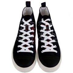 Stop Animal Testing   Rabbits  Men s Mid Top Canvas Sneakers