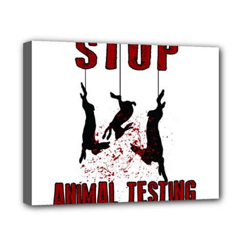 Stop Animal Testing   Rabbits  Canvas 10  X 8