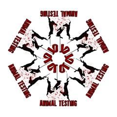 Stop Animal Testing   Rabbits  Mini Folding Umbrellas
