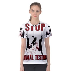 Stop Animal Testing   Rabbits  Women s Sport Mesh Tee