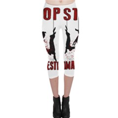 Stop Animal Testing   Rabbits  Capri Leggings