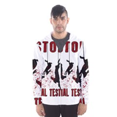 Stop Animal Testing   Rabbits  Hooded Wind Breaker (men)