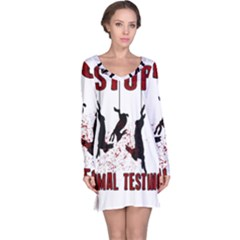 Stop Animal Testing   Rabbits  Long Sleeve Nightdress
