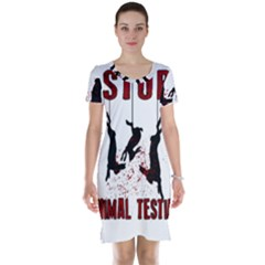 Stop Animal Testing   Rabbits  Short Sleeve Nightdress