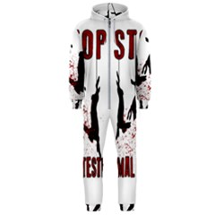 Stop Animal Testing   Rabbits  Hooded Jumpsuit (men)