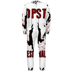Stop Animal Testing   Rabbits  Onepiece Jumpsuit (men)