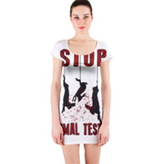 Stop Animal Testing   Rabbits  Short Sleeve Bodycon Dress