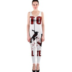 Stop Animal Testing   Rabbits  One Piece Catsuit