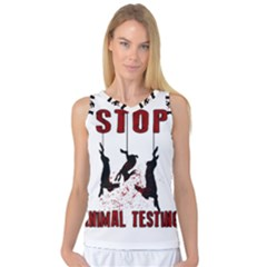 Stop Animal Testing   Rabbits  Women s Basketball Tank Top