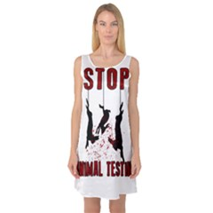 Stop Animal Testing   Rabbits  Sleeveless Satin Nightdress