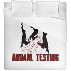 Stop Animal Testing   Rabbits  Duvet Cover (king Size)