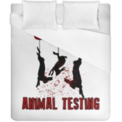 Stop Animal Testing   Rabbits  Duvet Cover (california King Size)