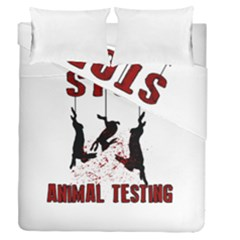 Stop Animal Testing   Rabbits  Duvet Cover Double Side (queen Size)