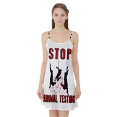 Stop Animal Testing   Rabbits  Satin Night Slip