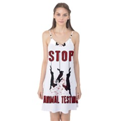 Stop Animal Testing   Rabbits  Camis Nightgown