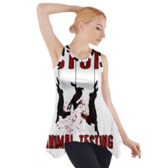 Stop Animal Testing   Rabbits  Side Drop Tank Tunic