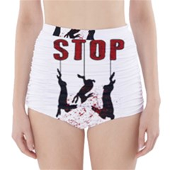 Stop Animal Testing   Rabbits  High Waisted Bikini Bottoms