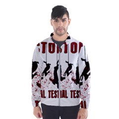 Stop Animal Testing   Rabbits  Wind Breaker (men)