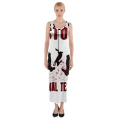 Stop Animal Testing   Rabbits  Fitted Maxi Dress