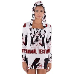 Stop Animal Testing   Rabbits  Long Sleeve Hooded T Shirt