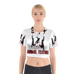 Stop Animal Testing   Rabbits  Cotton Crop Top