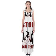 Stop Animal Testing   Rabbits  Empire Waist Maxi Dress