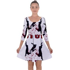 Stop Animal Testing   Rabbits  Quarter Sleeve Skater Dress