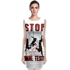 Stop Animal Testing   Rabbits  Classic Sleeveless Midi Dress