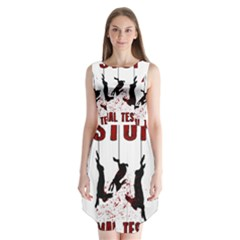 Stop Animal Testing   Rabbits  Sleeveless Chiffon Dress