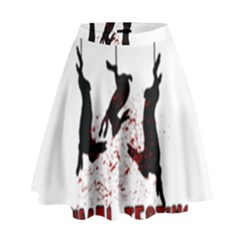 Stop Animal Testing   Rabbits  High Waist Skirt