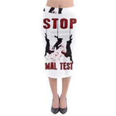 Stop Animal Testing   Rabbits  Midi Pencil Skirt