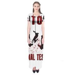 Stop Animal Testing   Rabbits  Short Sleeve Maxi Dress