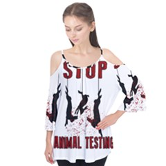 Stop Animal Testing   Rabbits  Flutter Tees