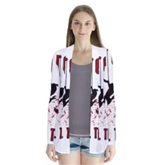 Stop Animal Testing   Rabbits  Drape Collar Cardigan