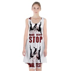 Stop Animal Testing   Rabbits  Racerback Midi Dress