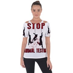 Stop Animal Testing   Rabbits  Short Sleeve Top