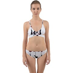 Stop Animal Testing   Rabbits  Wrap Around Bikini Set
