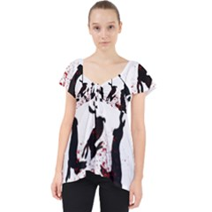 Stop Animal Testing   Rabbits  Lace Front Dolly Top