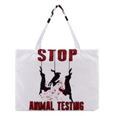 Stop Animal Testing   Rabbits  Medium Tote Bag