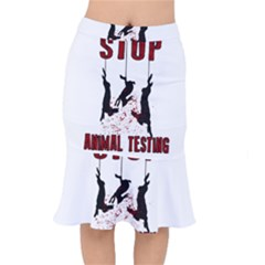 Stop Animal Testing   Rabbits  Mermaid Skirt