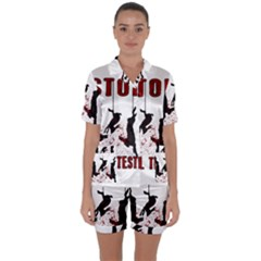 Stop Animal Testing   Rabbits  Satin Short Sleeve Pyjamas Set