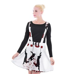 Stop Animal Testing   Rabbits  Suspender Skater Skirt