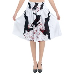 Stop Animal Testing   Rabbits  Flared Midi Skirt