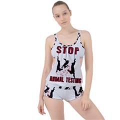 Stop Animal Testing   Rabbits  Boyleg Tankini Set