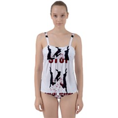 Stop Animal Testing   Rabbits  Twist Front Tankini Set