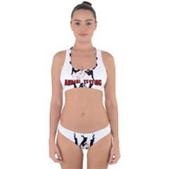 Stop Animal Testing   Rabbits  Cross Back Hipster Bikini Set